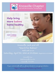 J&J March for Babies Flyer